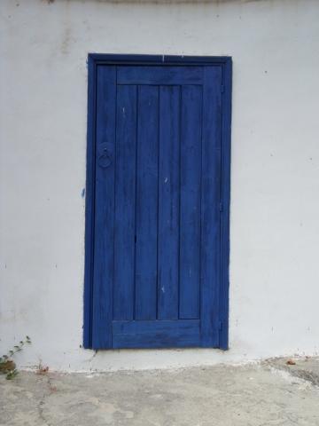 Porte bleue à Omodos - Chypre