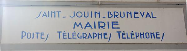 Enseigne Saint Jouin Bruneval - Véloroute de la côte d'albâtre