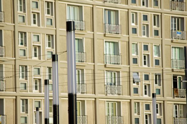 Immeuble (détail ) - Le Havre - Véloroute de la côte d'albâtre