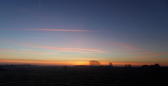 Lockedyzetoertocht - Kemmelberg VTT - lever de soleil