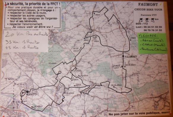Chicon bike tour 2014 - Parcours