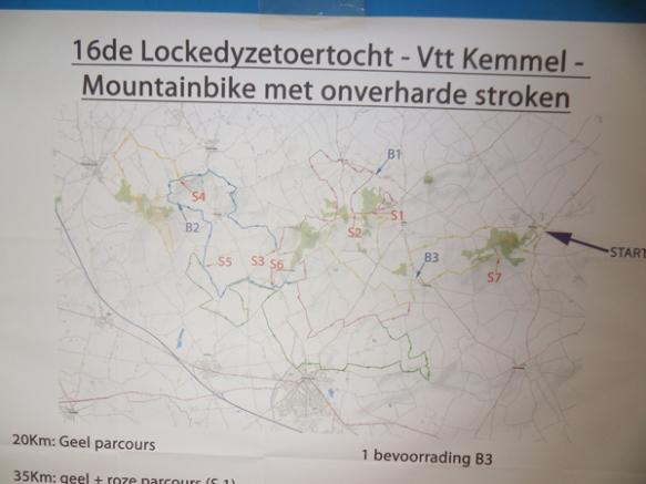 Lockedyzetoertocht - Kemmelberg VTT - Parcours
