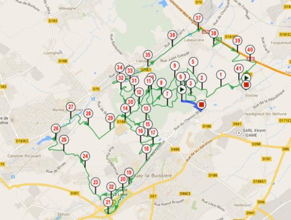 Randonnée du Bois des dames - VTT Gosnay 2014
