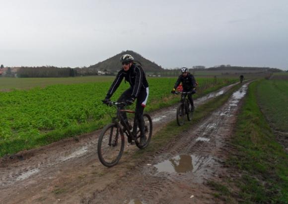 Cyclistes VTT - Randonnée du bois des dames Gosnay 2014A