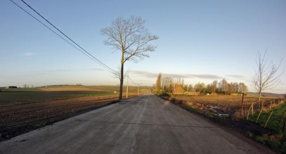 Route de Dranouter vers Kemmel Berg