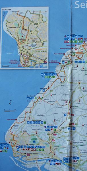 Carte route côte d'Albâtre