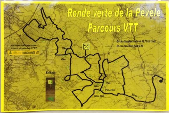 Parcours - Ronde verte de la Pévèle VTT 2014 - Bersée