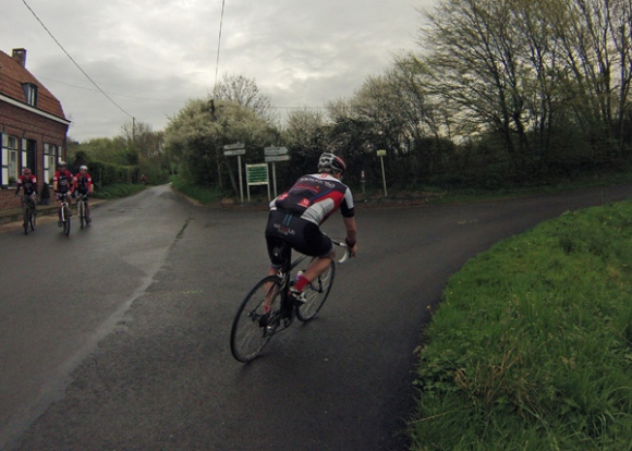 Randonnée en bleu et jaune 2014 - Wavrin - Cycliste