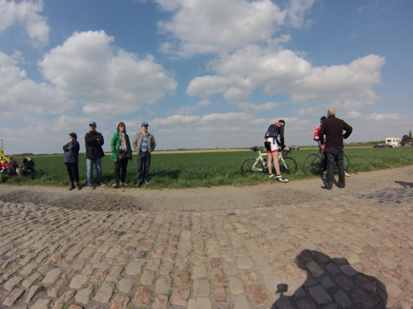 Paris Roubaix 2014 - Pavé de Gruson - spectateurs