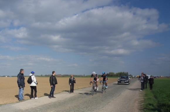 Paris Roubaix 2014 - Pavé de Gruson - cyclistes