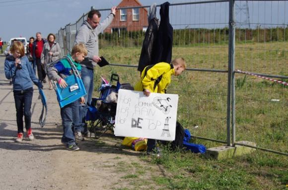 Paris Roubaix 2014 - Pavé de Gruson - supporters