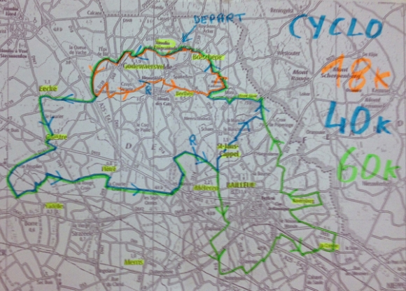 Itinéraires - Randonnée de Boeschepe 2014