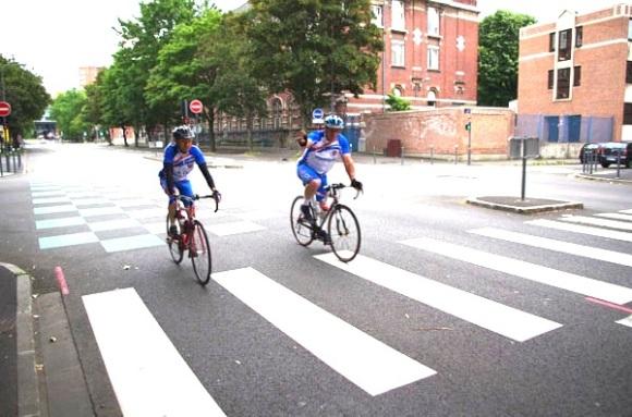 Lille Bray Dunes 2014 - Départ Boulevard Louis XIV - Cyclistes