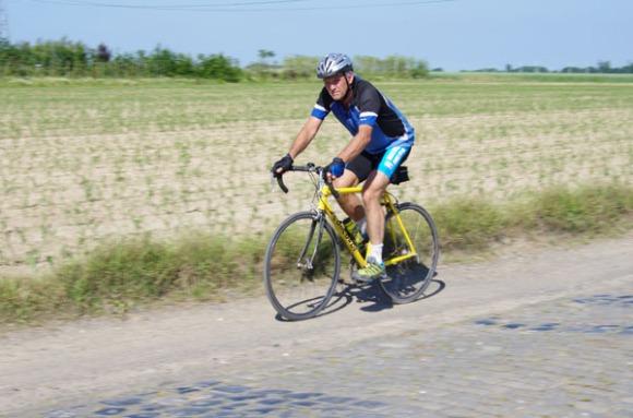 Paris Roubaix Cyclo 2014 - Pavé de Gruson - Cyclistes