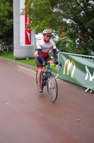 Cyclistes - Départ - Route des Monts 2014