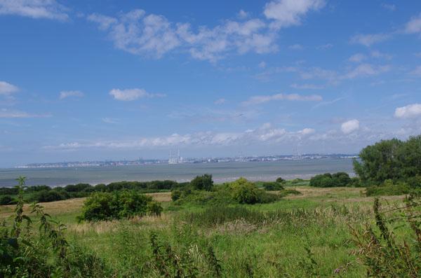 Le Havre vu de la côte de Nacre