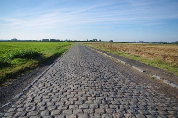 Route pavée - Belgique