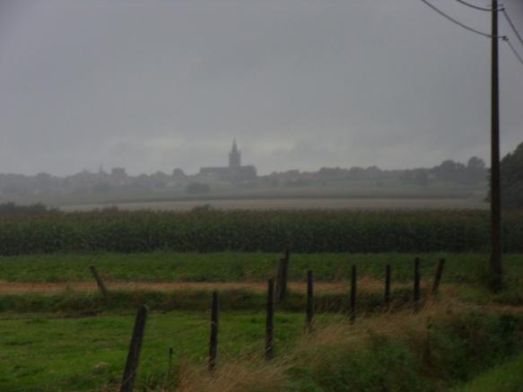 Nieuwkerque sous la pluie