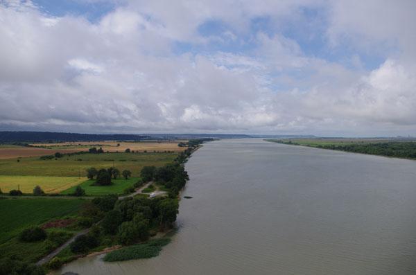 La seine vu du Pont de Tancarville