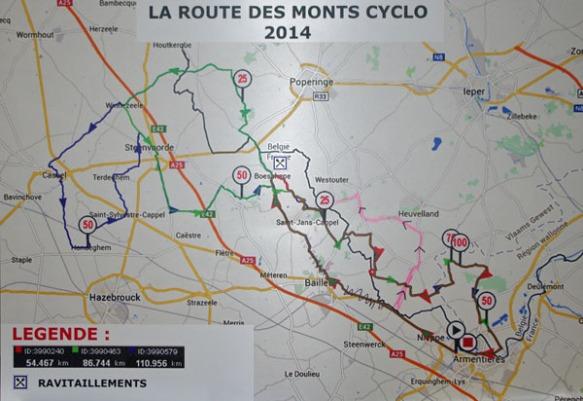 Itinéraire - Route des Monts 2014
