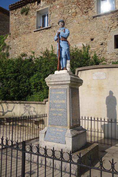 Les gorges de l'ardèche - Monument aux morts Saint Alexandre